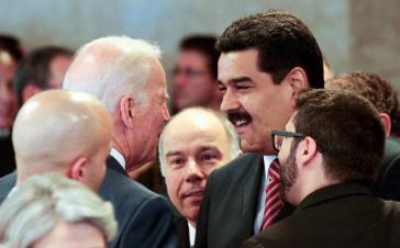 Maduro und Biden bei ihrer Begegnung 2016 in Brasília