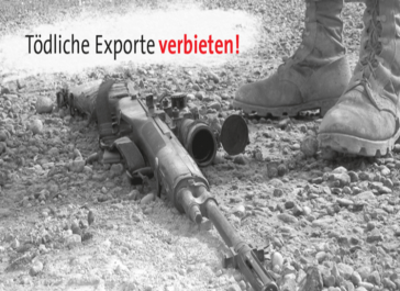Die Friedens - und Antimilitarismusbewegung in Deutschland kritisiert Waffenexporte