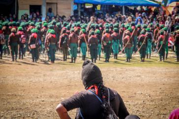 Die Zapatistinnen organisierten zwar das Treffen, hielten sich aber eher im Hintergrund
