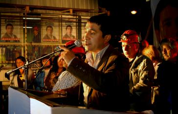 Cristián Cuevas während einer Gewerkschaftsveranstaltung im Jahr 2009.