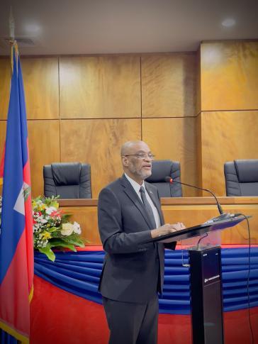 Auch Ariel Henry unterschrieb in Haiti die Regierungsentscheidung, Mitglieder des Wahlgremiums CEP zu entlassen