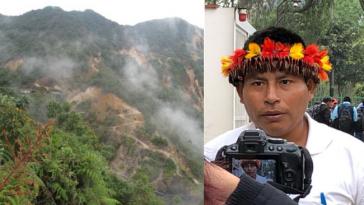 Ortez Baitug, Vorsitzender von Odecofroc, prangert in Lima Verfolgung gegen die indigenen Gemeinden an