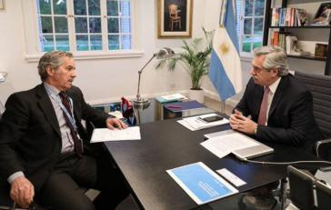 Nicht immer einer Meinung, nicht nur in Sachen Venezuela: Präsident Fernández und sein Außenminister Solá