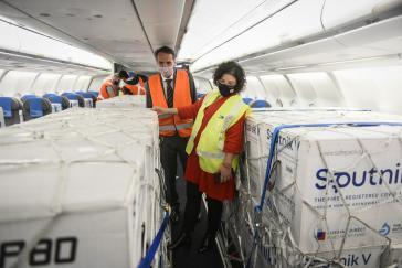 Die jüngste Lieferung von 800.000 Dosen Sputnik V kam am 20. April in Argentinien an