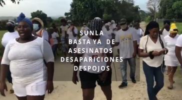 """SUNLA, der Name des Garífuna-Ermittlungskomitees, heißt übersetzt: """"Es reicht!"""""""