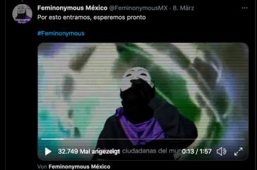 Feminonymos Mexiko hackte den Twitter-Account der Morena-Partei (ScreenShot)