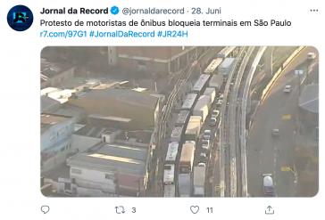 Der Busfahrer:innenstreik legte am Montag den Verkehr in Brasiliens größter Stadt lahm