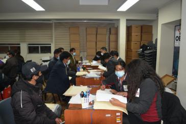 Die Einschreibung der Kandidat:innen, hier in La Paz, wurde am Montag abgeschlossen