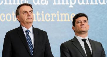 Ex-Bundesrichter Sérgio Moro (rechts) hat im Verfahren gegen Lula da Silva parteiisch gehandelt