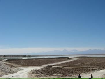 Anlage zum Abbau von Lithium in der Atacama-Region