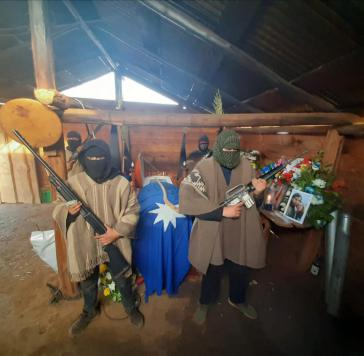 CAM-Totenwache für den Mapuche-Aktivisten Pablo Marchant