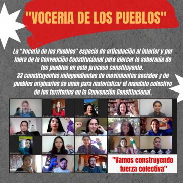 """Kämpfen für einen tiefgreifenden Wandel in Chile: Mitglieder der Plattform """"Stimme der Völker"""""""