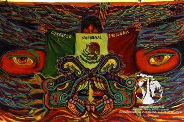 Das Wappen des Indigenen Nationalkongresses des CNI