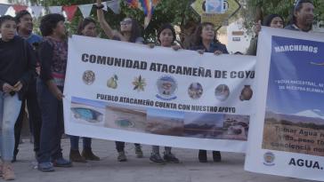 Protest in der Atacama-Wüste gegen Lithium