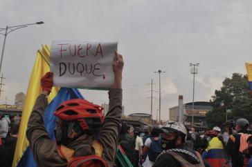 "Protestaktion in Bogotá am 8. Mai: ""Duque raus"""