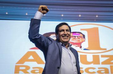 Muss in die Stichwahl: Linkskandidat Andres Arauz, Sieger der ersten Runde am 7.Februar