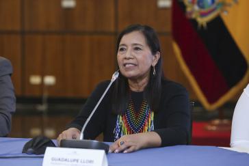 Die neue Präsidentin der Nationalversammlung, Guadalupe Llori
