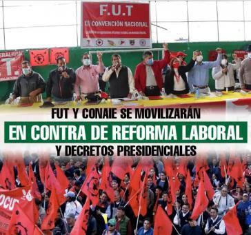 Aufruf von FUT und Conaie zu Protesten gegen die neoliberale Politik der Regierung Lasso