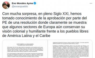 """Evo Morales prangert """"koloniale und demütigende"""" Resolution 2021/2646 des Europaparlaments an"""