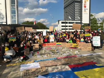 Kundgebung in Bonn am 7. Mai