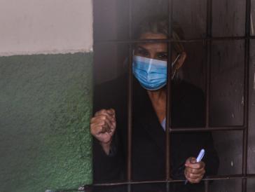 Ernannte sich im November 2019 selbst zur Senatspräsidentin: Die seit März inhaftierte Jeanine Áñez
