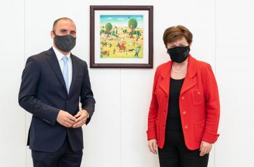 IWF-Chefin Kristalina Georgieva mit Wirtschaftsminister Martin Guzmán letzte Woche in New York