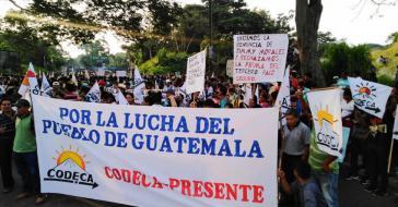 """""""Für den Kampf des Volkes von Guatemala - Codeca presente"""""""