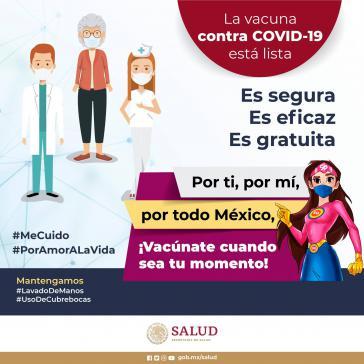 Darstellung aus der Impfkampagne des mexikanischen Gesundheitsministeriums