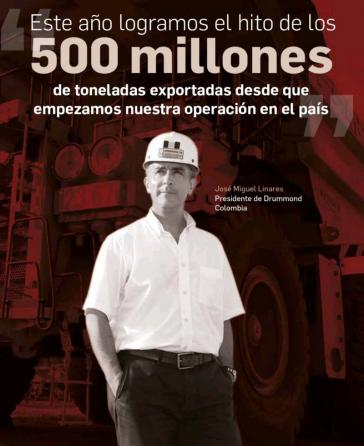 Laut Vorstandschef Linares hat Drummond 500 Millionen Tonnen Kohle aus Kolumbien exportiert