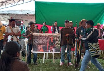 Im indigenen Selbstverwaltungsgebietes von La Laguna nimmt die Gemeinde Abschied von ihrer obersten Repräsentantin