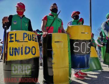"""""""Das vereinte Volk"""": Die Guardia Indígena beteiligte sich in der """"Ersten Reihe"""" an den Protesten in Cali"""