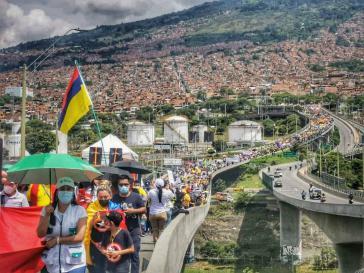 Demonstration in Medellin am Mittwoch