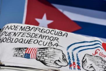 gegen die US-Blockade von Kuba