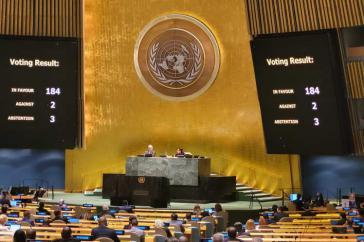 Jahr für Jahr verurteilt eine überwältigende Mehrheit der UN-Generalversammlung die seit 1962 bestehende Blockade der Vereinigten Staaten gegen Kuba.