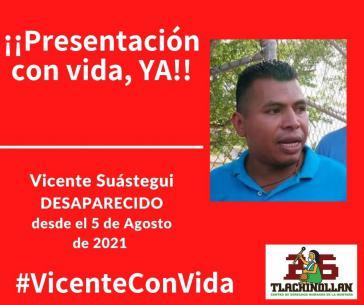 Die Forderung an die Behörden, Vicente Suástegui aufzufinden und den Fall aufzuklären, kann auch per Eilaktion unterstützt werden