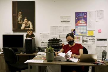 Sayuri Herrera Román, leitende Staatsanwältin für Feminizide von Mexiko-Stadt, in ihrem Büro