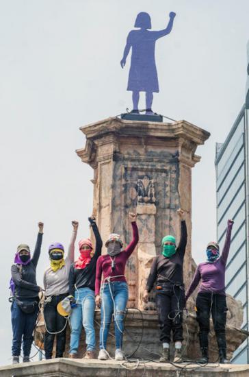 Ein Denkmal für Frauen, die kämpfen: Aktivistinnen in Mexiko-Stadt haben Fakten geschaffen