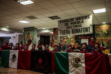 """""""Bonafont Raus"""": Pueblos Unidos de la Región Cholulteca y de los volcanes haben jetzt das Firmengelände besetzt"""