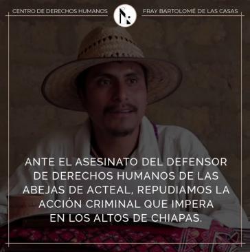Simón Pedro Pérez López ist  in Chiapas getötet worden