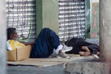 In vielen brasilianischen Städten prägen die Wohnungslosen das Stadtbild