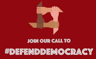 """Profilbild der NED in sozialen Medien: """"Schließen Sie sich unserem Aufruf zur Verteidigung der Demokratie an"""""""