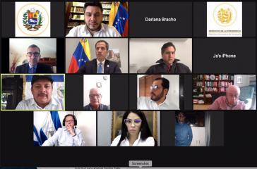Virtueller Beratung: Guaidó und Oppositionsvertreter:innen aus Nicaragua...