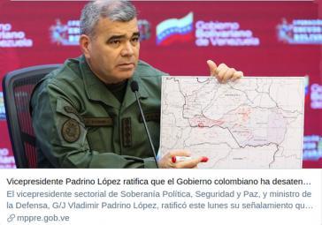 Venezuelas Verteidigungsminister informiert über die Lage an der Grenze zu Kolumbien