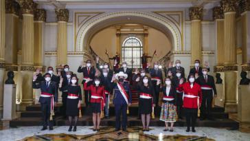 Das neue Kabinett in Peru von Präsident Pedro Castillo