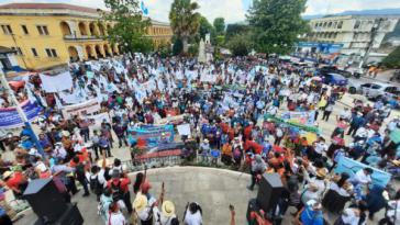 Protest in Guatemala für die Freilassung politischer Gefangener