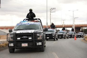 Polizeieinheiten im mexikanischen Bundesstaat Zacatecas