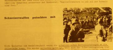 Chile-Komitee: Schweizer Imperialismus. In: Chile – der Kampf geht weiter, N°1, Januar 1974