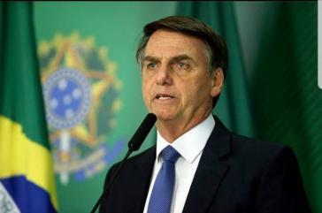 Brasiliens Präsident Bolsonaro bei einem Interview