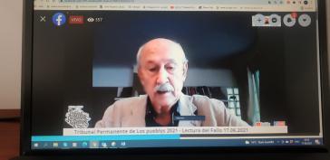 TPP-Präsident Philippe Texier anlässlich der Verkündung des Urteils