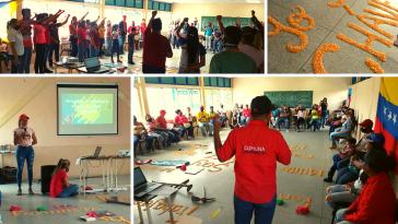"""Die erste Versammlung der Brigade Kommunale Stadt """"Hugo Chávez"""" fand am 9. Januar in der Kommune El Maizal statt"""